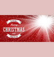 christmas red background merry christmas happy vector image vector image