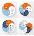 circle infographics set template for diagram graph vector image vector image
