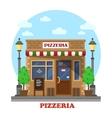 City italian pizzeria facade front view vector image vector image