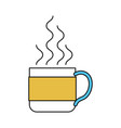 color sectors silhouette of hot coffee cup vector image vector image