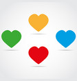 colored simple icons heart vector image vector image