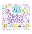 cute cat hand drawn color vector image vector image