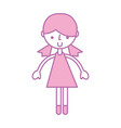 cute purple girl cartoon vector image vector image