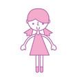 cute purple girl cartoon vector image vector image