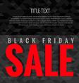 dark black friday sale vector image vector image