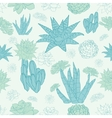 Desert Cacti Seamless Pattern vector image vector image