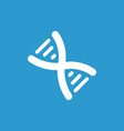 DNA icon white on the blue background vector image