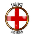 english proud flag button vector image vector image