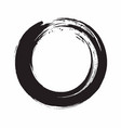 enso zen circle ink brush vector image