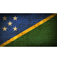 Flags Solomon Islands with dirty paper texture vector image