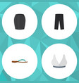 flat icon clothes set of brasserie beach sandal vector image vector image