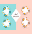 floral frames daisies flowers elegant floral vector image vector image