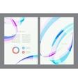 Flyer design template vector image vector image
