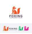 foxing logo design vector image vector image