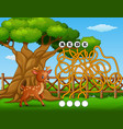 game deer maze find way to the word vector image