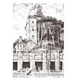 government building ruins in italy roman forum vector image vector image
