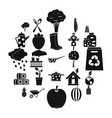 granger icons set simple style vector image vector image