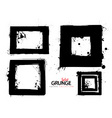 grunge square collection vector image vector image