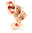 Hearts play cards vector image vector image