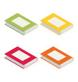 isometric books in bright colours isolated on vector image