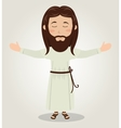 Jesus christ prayer open arms design vector image