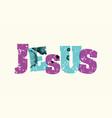 jesus concept stamped word art vector image vector image