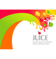 juice fruit liquid drops splash colorful backgroun vector image vector image