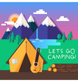 Lets go camping vector image
