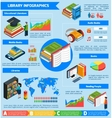 Library Isometric Infographics vector image vector image