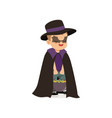 little boy dressed as a bat cute kid in halloween vector image vector image