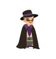 little boy dressed as a bat cute kid in halloween vector image