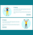 lose weight and pumping muscles fitness vector image