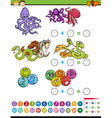 mathematical task for children vector image vector image