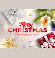 merry christmas greeting card happy new vector image vector image