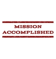 Mission Accomplished Watermark Stamp vector image