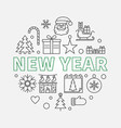new year round concept in thin vector image