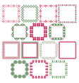 nordic square frames vector image vector image