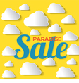 Paradise Sale With White Clouds vector image vector image