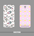 phone cover ice cream vector image vector image