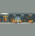 postal service robotized warehouse cartoon vector image vector image