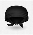 realistic black head bandana with shadow vector image