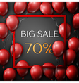 Realistic red balloons with text Big Sale 70 vector image vector image