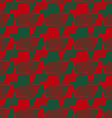 Retro 3D red and green zigzag cut ribbons vector image vector image