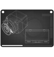 safe and case on a black vector image vector image