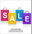sale wording on shoping bags on white background vector image vector image