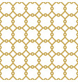 seamless golden pattern in arabian style vector image