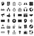 service lines icons set simple style vector image vector image