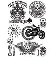 set of badges logos design elements on vector image vector image