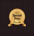 special price best offer hot golden label seal vector image