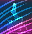 sport neon series motorcycle vector image vector image